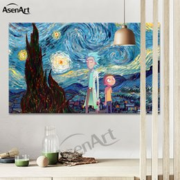 Wholesale Decorative Wall Painting For Kids - Wall Art Cartoon Rick and Morty Canvas Poster Modern Picture for Kids Room Home Decorative