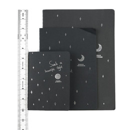 Wholesale paper cover book - 1 PC New Fashion Black Pirate Notepad Sketchbook Diary Drawing Painting Graffiti Cover Paper Sketch Book Stationery