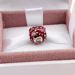 Charme de veado branco on-line-Branco ou vermelho esmalte cervos liga charme para pulseira pandora cobra cadeia colar de moda jóias solto pérola nova chegada