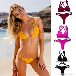 Wholesale brazilian bikini set xs - 2017 Sexy Bandeau Bikinis plus size Women Swimsuit Brazilian Bikini Set Bathing Suit Push Up Swimwear Hot Biquini Swim Wear