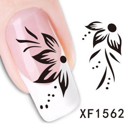 Wholesale Watermark Nails - 2 Sheet Watermark Nail Stickers Nail Stickers Butterfly Flower Xf1562