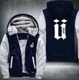 Herren-jacke mit kapuze online-2018 Unkut Stil Hoodies Männer Hip Hop Herren Ringer Verdicken Mantel Langarm Fleece Sweatshirts Mens Fashion Dicke Warme Baumwolle Jacke