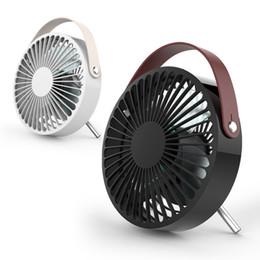 pás de ventilador elétrico Desconto Portátil Mini Ventilador USB Desktop Ventoinha De Refrigeração De Verão Duas Engrenagens Mudo Fan Com alça 2 Cores