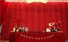 le luci stellate gialle stellate Sconti Di alta qualità 3x6 m elegante onda acqua tenda di nozze fondali tende per matrimonio / decorazione del partito spedizione gratuita