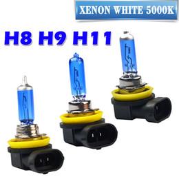 Wholesale H3 Halogen - 10X Super White Halogen Bulb H1 H3 H4 H7 H8 H9 H11 9005 HB3 9006 HB4 12V 55W 100W 5000K Quartz Glass Car Headlight Lamp