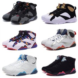 Wholesale Leather Men Sweaters Black - High Quality 7 7s Bordeaux Hare Olympic Tinker Alternate Men Basketball Shoes Sweater UNC French Blue Raptor designer Sneakers