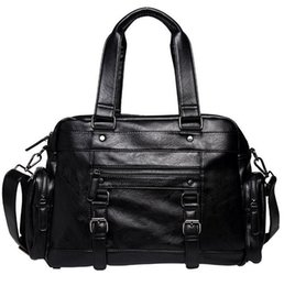 Factory wholesale brand package business casual men casual handbags fashion  leather handbags trendy belt decoration leisure travel bag trendy business  ... bea2057dfc0c3