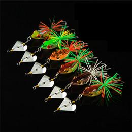 Лягушка прядильщик онлайн-Плавающей Swmming искусственный резиновый Луч лягушка приманка 14 см 11 г Topwater Рыбалка поверхность воды бас spinner приманки