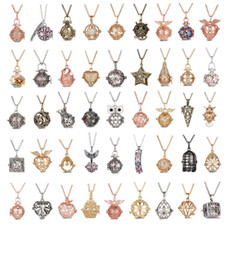 Wholesale Pendant Metal Pearl - Pregnancy Ball Love Wish Beads Cages Angel Bola Magic Box Hollow pearl charm locket Pendant Necklace Long Sweater Chain