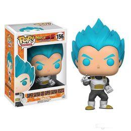 Funko POP Dragon Ball Z Super Saiyan Vegeta Super Saiyan God Figura in vinile con scatola per bambini kift da