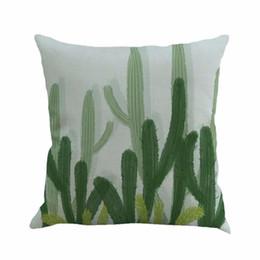Canada 45 * 45 cm plantes tropicales africaines décoratif taie d'oreiller coton lin housse de coussin pour l'accessoire de coussin décoratif à la maison cheap african decorative Offre