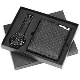 Top Brand Luxury Mens Watch Quartz Wristwatches Wallet Gift Set For Boyfriend Business Fashion Watches Best Birthday