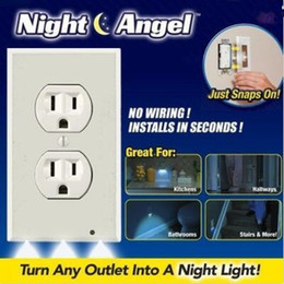 Wholesale Party Outlets - Plug Cover LED Night Angel Wall Outlet Face Hallway Safty Light Sensor Automatic Small Night Light Party Favors CCA8746 120pcs
