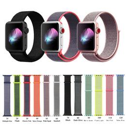 наручные часы Скидка Спортивный ремешок Мягкий легкий дышащий нейлоновый сменный ремешок для iWatch Apple Watch серии 3, серии 2, серии 1,38 мм / 42 мм