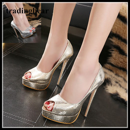 b0ec83515b2 Glitter Wedding Shoes Peep Toe Thin High Heels Pumps Prom Party 15cm size 35  to 40