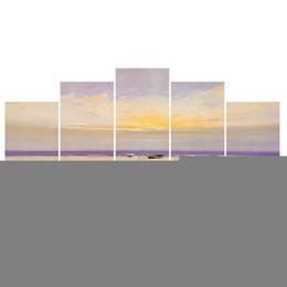hermosas pinturas paisaje lienzo Rebajas Impresiones HD Paisaje Decoración para el hogar Lienzo de la sala Fotos 5 piezas Pinturas Arte de la pared Pinturas hermosas