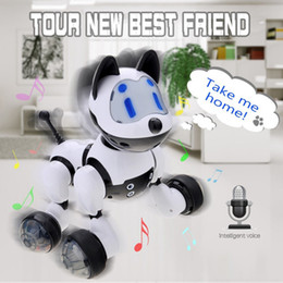 Robôs do gato on-line-Youdi Controle de Voz Do Gato Do Cão Robô Inteligente Cão Eletrônico Gato de Controle de Voz Pet Programa Dança Walk Robotic Pets Controle de Voz Brinquedo Do Cão