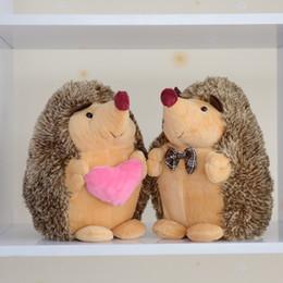 2X recheado de Hedgehog Plush Floppy Animal coleção da herança de