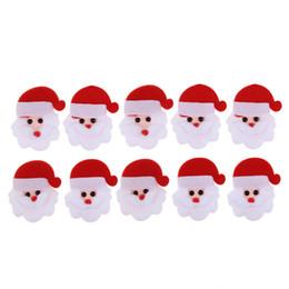 Wholesale woven patches wholesale - 10pcs Merry Christmas Santa Claus Ornament Non-woven fabric Christmas decoration DIY Patch Padded Felt Appliques Accessories