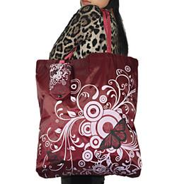 Grand sac à provisions de poche carrée de papillon, polyester réutilisable pliant qui respecte l'environnement sac à bandoulière de sac pour l'épicerie de voyage ? partir de fabricateur