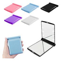 Argentina Desktop Portable 8 LED Light Mirror Luces compactas Light Travel Make Up Mirror supplier ups desktop Suministro
