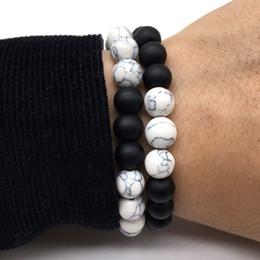 Wholesale Box Quality Bracelet - New Fashion Classic Natural Stone Black Volcanic Lava Beads Bracelets High Quality Energy Stone Bracelet for women men Gift Yoga