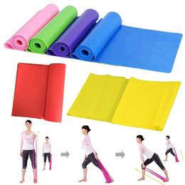 розовые полосы сопротивления Скидка 1.5 м йога пилатес стрейч сопротивление группы тренировки эластичные упражнения тренировки резиновые Crossfit Фитнес Группа ремень