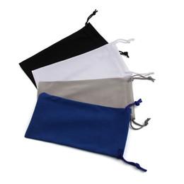 Wholesale Eyewear Bag - 50pcs Black Cloth Fabric Bags Sunglasses Soft Pouches Eyewear Case Microfiber Cloth Bags for MOBILE GLASSES Lowest Price 17.5*9cm