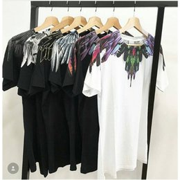 Canada Marcelo Burlon T-Shirts 18SS Hommes Femmes 1: 1 Italie Mode Marcelo Burlon Top T-shirts Streetwear Feather Wings Marcelo Burlon T-shirt S917 supplier feather tops Offre
