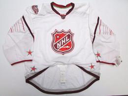 billige authentische nhl hockey trikots Rabatt Günstige Benutzerdefinierte 2011 NHL ALLES STAR SPIEL AUTHENTISCHE WHITE EDGE JERSEY GOALIE CUT 60 Herren genäht personalisierte Hockey Trikots