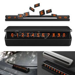Auto comoda chiamata temporanea parcheggio scheda tipo di cassetto numero telefonico scheda stile magnetico nascosto facile da smontare sostituire nero argento da