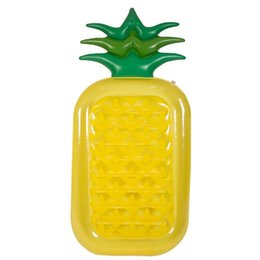 Wholesale outside kids - Inflatable Swimming Circle Plastic Cement Toy Adult Kid Outside Play Summer Beach Pineapple Floats Pad Fruits Series Hot Sale 45yn V