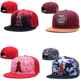 Wholesale angels baseball caps - Angels Team Hats Caps Snapbacks Adjustable Hats Baseball Caps