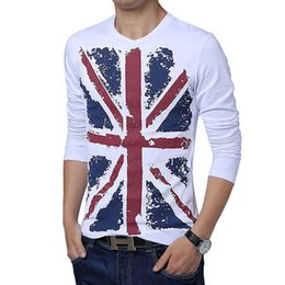 Wholesale New Shirts Patterns For Men - 2018 Spring Summer Tees for men New Arrival torx flag pattern T shirt Men's casual t-shirt male Long sleeve tshirt Plus size 5XL