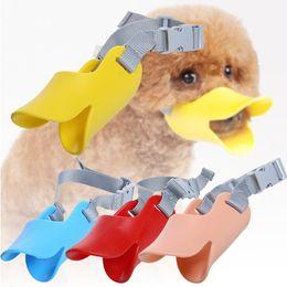Wholesale Funny Modeling - Creative Pet Dog Duckbill Modeling Anti-bite Funny Masks Anti-picking Anti-called Silicon Muzzle Pet Dog Supplies