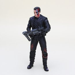 """Wholesale Action Figure Bags - Anime The Terminator T -800 Arnold Schwarzenegger Pvc Action Figure Collectible Model Toy Size In 7 """"18cm With Opp Bag"""