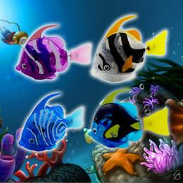 serbatoio della batteria Sconti 2017 Nuovo Divertente Swim Electronic fish Activated Alimentato a batteria Toy Pet per il serbatoio di pesca Decorazione di giocattoli di acqua Lanterna di pesce