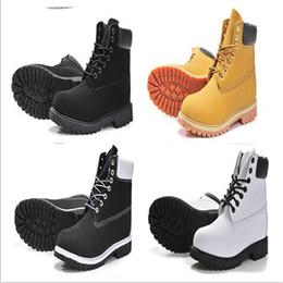 Wholesale Kitten Heels Size - 2018 Authentic Brand Motorcycle Boots Men Casual 6-Inch Premium Boots Women Waterproof outdoor 10061 Wheat Nubuck boots size 36-46