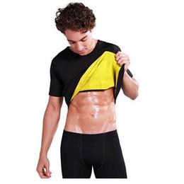 Wholesale Waist Burning Belt - Slimming Belt Belly Men Slimming Vest Body Shaper Neoprene Abdomen Thermo Fat Burning Shaperwear Waist Sweat Corset Weight Loss