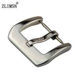 silver bracelet band 2018 - Wholesale-Black Stainless Steel Silver Brushed Watchbands Watch Band Pin Buckle Straps Clasp 20mm Pure Solid Men Women Relojes Hombre 2016