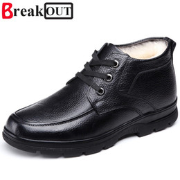 shoe broken toe Coupons - Break Out New Men Boots Winter Boots Snow Warm Plush Fashion Lace Up Men Shoes Size 38-44