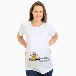 681a033b2b3cb Funny Maternity Clothes Vestidos Pregnancy T-Shirts Tops Baby Loading Pregnant  Women Tops Maternity Women Maternity Shirt