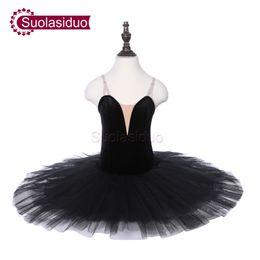 Laranja preto tutu adulto on-line-Meninas Preto Clássico Ballet Tutu Laranja Palco Performance Dancewear Crianças Trajes de Competição de Dança de Balé Profissional Adulto Ballet Saia