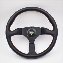 14-дюймовый ложка спортивный автомобиль гоночный производительность тюнинг Спорт кожа рулевое колесо для универсального автомобиля от Поставщики рулевое управление для автомобилей