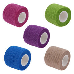 purple elbow Coupons - Promotion 1Roll Cotton blend elastic self adhesive adherent cohesive Wrap Finger Bandage tender Tape Self Adhering Stick Bandage