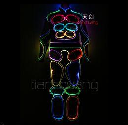 21385020d0f TC-81 Programmation des vêtements de fibres colorées pleine couleur LED  lumière robot hommes costumes lumineux dj porter salle de bal disco scène  costumes ...