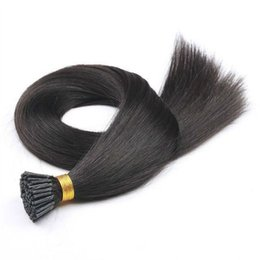 qualidade eu inclino extensões de cabelo Desconto Remy Humano Sedoso Reta Queratina Queratina Cabelo Vara Eu Dica Pré Extensões de Cabelo Ligado Atacado Emaranhado Livre