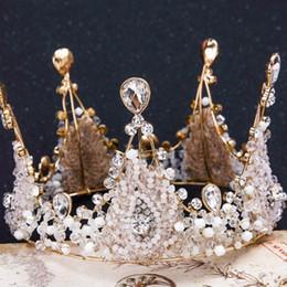 Un nouveau style de couronne, cristal artisanal vintage avec reine de diamant, couronne de mariage, coiffe de mariée ? partir de fabricateur