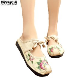 2019 старая китайская обувь Chinese Women Slippers Old BeiJing Slip On Handmade Sewing National Embroidered Comfortable Soft Shoes Zapatos Mujer