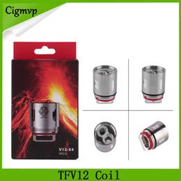 Atomiseurs t8 en Ligne-Tête de bobine TFV12 V12 T12 T8 T6 X4 Têtes d'atomiseur pour TFV12 Réservoir Bête Nuage Monster Vape DHL Livraison gratuite 0266121
